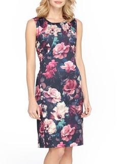 Tahari Floral Scuba Sheath Dress (Regular & Petite)