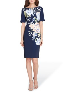 Tahari Floral Scuba Sheath Dress