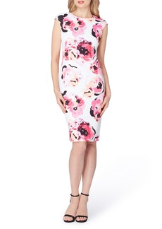 Tahari Floral Sheath Dress