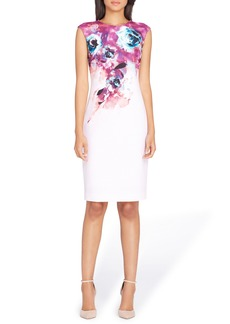 Tahari Floral Sheath Dress (Regular & Petite)