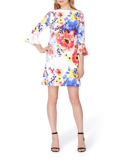 Tahari Floral Shift Dress (Regular & Petite)