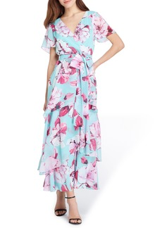 Tahari Floral Tiered Maxi Dress