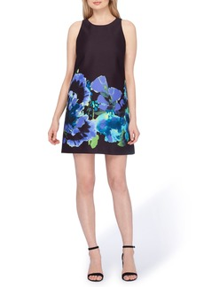 Tahari Floral Trapeze Dress (Regular & Petite)