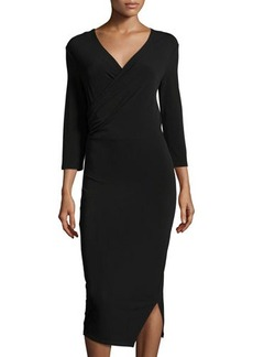 Tahari Frankie Faux-Wrap Sheath Dress