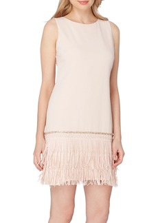 Tahari Fringe Shift Dress
