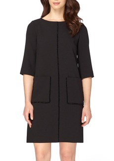 Tahari Fringe Shift Dress (Regular & Petite)