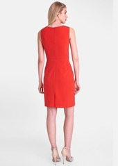 Tahari Gathered Shoulder Sheath Dress (Regular & Petite)