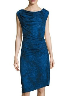 Tahari Genevieve Cowl Sheath Dress