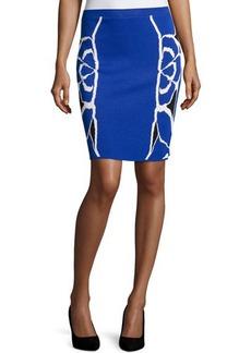 Tahari ASL Gracela Printed Knit Pencil Skirt