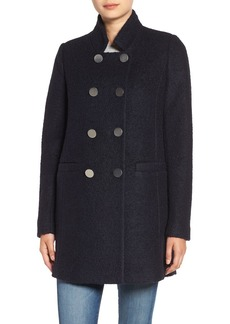 Tahari 'Harper' Double-Breasted Bouclé Coat (Regular & Petite)