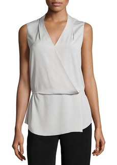 Tahari Helen Sleeveless Draped Blouse