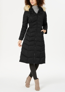 Tahari Hooded Faux-Fur-Trim Down Puffer Coat