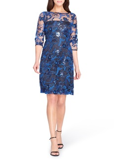 Tahari Illusion Lace Sheath Dress