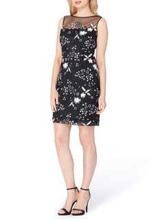 Tahari Illusion Sequin Embroidered Sheath Dress (Regular & Petite)