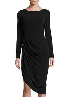 Elie Tahari Irene Asymmetric-Hem Jersey Dress
