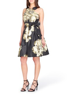 Tahari Jacquard Fit & Flare Dress
