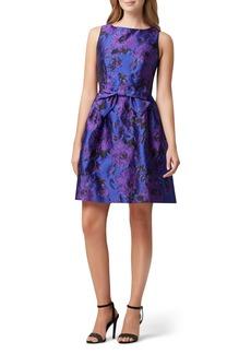 Tahari Jacquard Fit & Flare Dress