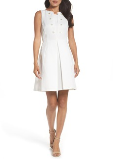 Tahari Jacquard Fit & Flare Dress (Regular & Petite)