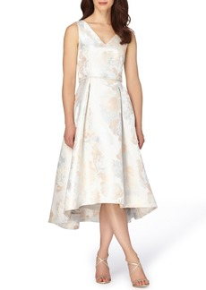 Tahari Jacquard Midi Dress