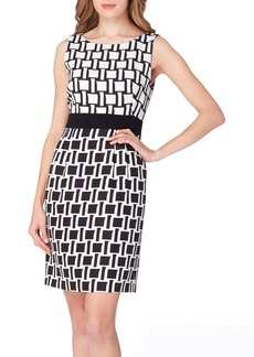 Tahari Jacquard Print Sheath Dress (Regular & Petite)