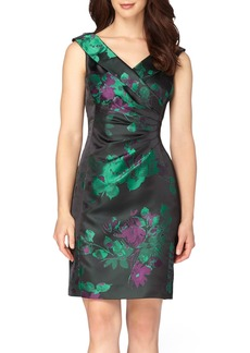 Tahari Jacquard Sheath Dress (Regular & Petite)
