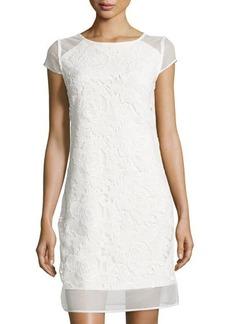 Tahari Jean Floral-Lace Knit Sheath Dress