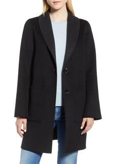 Tahari Jenn Double Face Wool Blend Reversible Coat