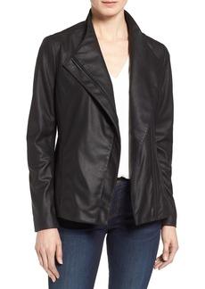 Tahari Kelly Leather Peplum Jacket (Regular & Petite)