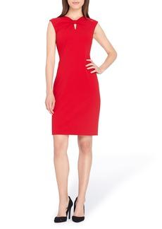 Tahari Knotted Scuba Sheath Dress (Regular & Petite)
