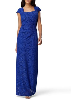 Tahari Lace Cap Sleeve Gown