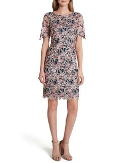 Tahari Scalloped Lace Cocktail Dress
