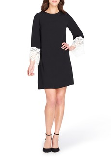 Tahari Lace Cuff Shift Dress