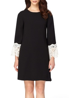 Tahari Lace Embellished A-Line Dress