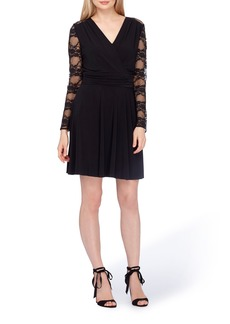 Tahari Lace Fit & Flare Dress