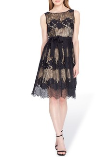 Tahari Lace Fit & Flare Dress (Regular & Petite)