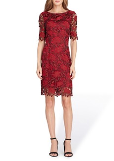 Tahari Lace Overlay Sheath Dress