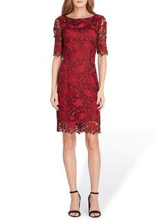 Tahari Lace Overlay Sheath Dress