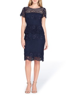 Tahari Lace Peplum Sheath Dress