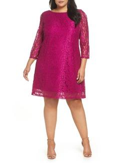 Tahari Lace Shift Dress (Plus Size)