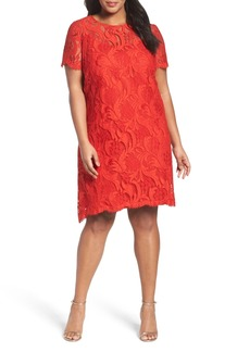 Tahari Lace Swing Shift Dress (Plus Size)