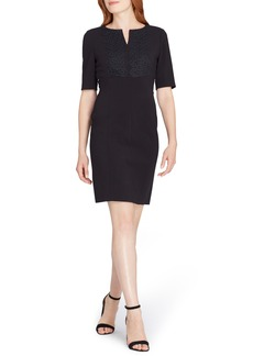 Tahari Lace Trim Sheath Dress
