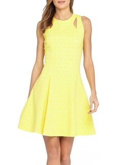 Tahari Laser Cut Scuba Fit & Flare Dress (Regular & Petite)