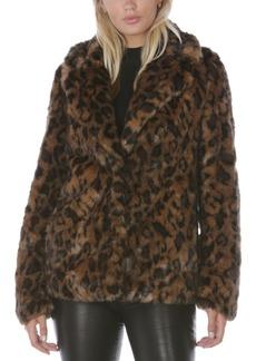 Tahari Leopard-Print Faux-Fur Coat, Created for Macy's