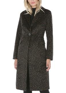 Tahari Leopard-Print Walker Coat, Created for Macy's