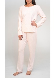 Tahari Long Sleeve Top and Pant Pajama Set, Online Only