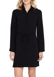 Tahari Long Sleeve Woven Shirtdress