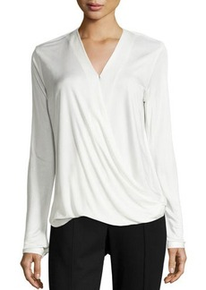 Tahari Maple Wrap-Front Blouse