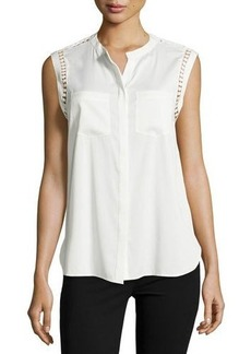 Tahari Marcell Patch-Pocket Top