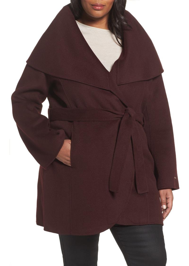 a26abbae81d15 Tahari Tahari Maria Double Face Wool Blend Wrap Coat (Plus Size ...