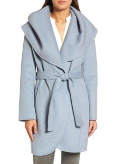 Tahari Marla Double Face Wool Blend Wrap Coat